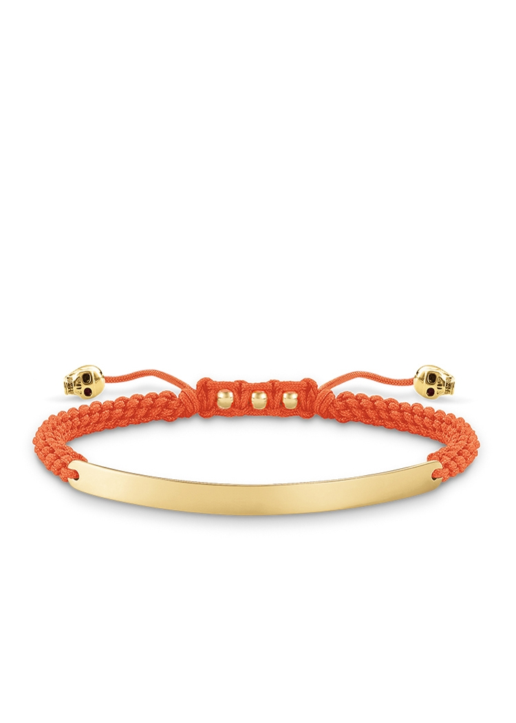 Armband Love Bridge Gold orange Gr