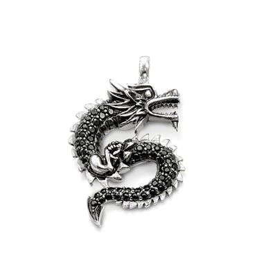 Rebel at Heart Sterling Silver Anhänger Drache