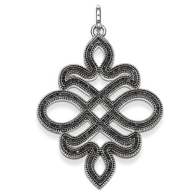 Rebel at Heart Sterling Silver Anhänger Knoten