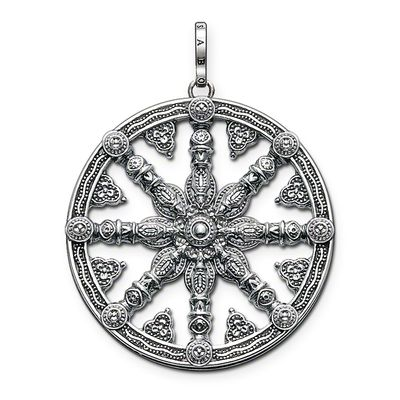 Glam & Soul Sterling Silver Anhänger Wheel of Karma