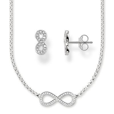 "Glam & Soul Collier & Ohrstecker ""Infinity"""