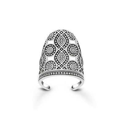"Glam & Soul Sterling Silver Nail Ring ""Ethno"""