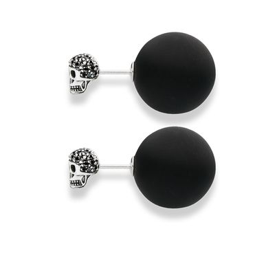 "Glam & Soul Ohrstecker ""Double Stud Totenkopf"""