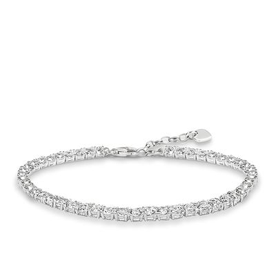 Glam & Soul Sterling Silver Tennis Armband